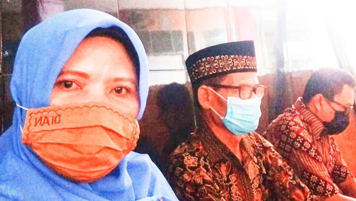 Kepala SMK Muhammadiyah 1 Padang Habibullah saat pembukaan pesantren Ramadhan 1442 H